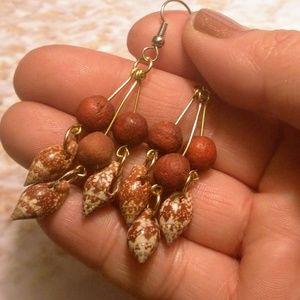 Beautiful Hanging Shell Earrings